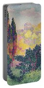 The Cypresses At Cagnes Portable Battery Charger by Henri-Edmond Cross