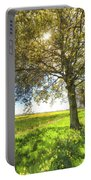 The Daffodil Summer Farm Art Portable Battery Charger