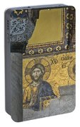 The Deesis Mosaic With Christ As Ruler At Hagia Sophia Portable Battery Charger