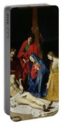 The Descent From The Cross Portable Battery Charger by Nicolas Tournier