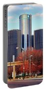 The Detroit Renaissance Center Portable Battery Charger by Gordon Dean II