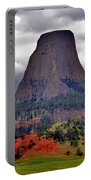 The Devils Tower Wy Portable Battery Charger by Susanne Van Hulst
