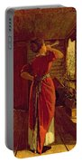 The Dinner Horn Portable Battery Charger by Winslow Homer