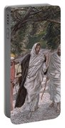 The Disciples On The Road To Emmaus Portable Battery Charger by Tissot