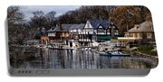 The Docks At Boathouse Row - Philadelphia Portable Battery Charger