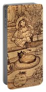 The Doll, The Kitties And The Gingerbread Boy Portable Battery Charger