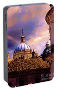 The Domes Of Immaculate Conception, Cuenca, Ecuador Portable Battery Charger