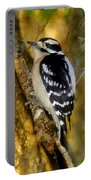 The Downy Woodpecker Portable Battery Charger