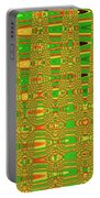 The Dreaded Bull Head Sticker Yellow Flower Abstract Portable Battery Charger