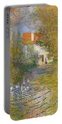 The Duck Pond Portable Battery Charger by Claude Monet