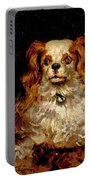 The Duke Of Marlborough. Portrait Of A Puppy Portable Battery Charger