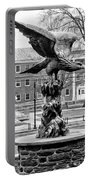 The Eagle - Widener University In Black And White Portable Battery Charger