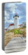 The Eastern Point Lighthouse In Gloucester Portable Battery Charger