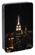 The Empire States At Night Portable Battery Charger
