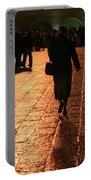 The Entrance To The Western Wall At Night Portable Battery Charger