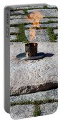 The Eternal Flame At President John F. Kennedy's Grave Portable Battery Charger