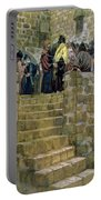 The Evil Counsel Of Caiaphas Portable Battery Charger by Tissot