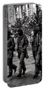 The Fab Four In Black And White Portable Battery Charger