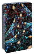 The Fabric Of The Universe Portable Battery Charger