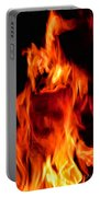 The Face Of Fire Portable Battery Charger