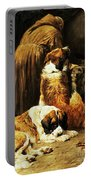 The Faith Of Saint Bernard Portable Battery Charger