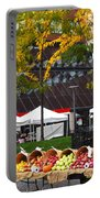 The Fall Harvest Is In Kendall Square Farmers Market Foliage Portable Battery Charger