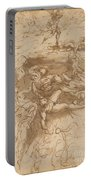 The Fall Of The Rebel Angels [recto] Portable Battery Charger