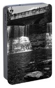 The Falls In Black And White Portable Battery Charger