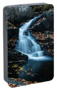 The Falls Of Black Creek In Autumn II Portable Battery Charger