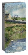 The Farm At Osny Portable Battery Charger by Camille Pissarro