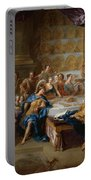 The Feast Of Dido And Aeneas. An Allegorical Portrait Of The Family Of The Duc And Duchesse Du Maine Portable Battery Charger