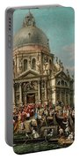 The Feast Of The Madonna Della Salute In Venice Portable Battery Charger