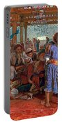 The Finding Of The Savior In The Temple Portable Battery Charger by William Holman Hunt