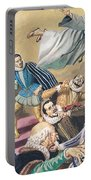 The Flight Of Father Dominic Portable Battery Charger by English School