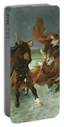 The Flight Of Gradlon Mawr Portable Battery Charger by Evariste Vital Luminais