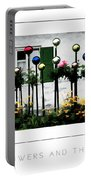 The Flowers And The Balls Poster Portable Battery Charger