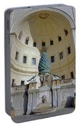 The Fontana Della Pigna In The Vatican City Portable Battery Charger