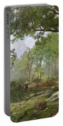 The Forest Of Fontainebleau Portable Battery Charger by Leon Richet