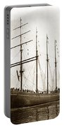 The Four-masted Barkentine  Jane Stanford Built By Hans Bendixse 1892 Portable Battery Charger
