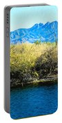 The Four Peaks From Saguaro Lake Portable Battery Charger