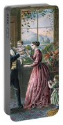 The Four Seasons Of Life  Middle Age Portable Battery Charger by Currier and Ives