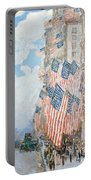 The Fourth Of July Portable Battery Charger by Childe Hassam