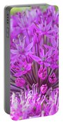 The Full Bloom Of Flowering Ornamental Onion Portable Battery Charger