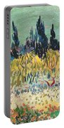 The Garden At Arles  Portable Battery Charger by Vincent Van Gogh