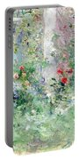 The Garden At Bougival Portable Battery Charger by Berthe Morisot