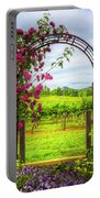 The Garden At The Winery Portable Battery Charger