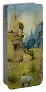 The Garden Of Earthly Delights, Detail Of Left Panel Showing Paradise Portable Battery Charger