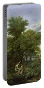 The Garden Of Eden Portable Battery Charger by Nicolas Poussin