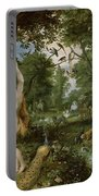 The Garden Of Eden With The Fall Of Man Portable Battery Charger