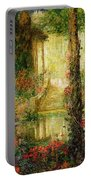 The Garden Of Enchantment Portable Battery Charger by Thomas Edwin Mostyn